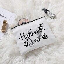 Witch pumpkin bat Halloween queen Cosmetic bag Halloween Holiday