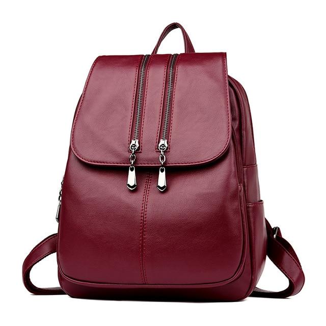 2019 Kadın Deri Sırt Çantaları Yüksek Kaliteli seyahat omuz çantası Kadın Sırt çantası Vintage Sırt Çantası Bayanlar Kesesi Dps Kadın Sırt Çantası