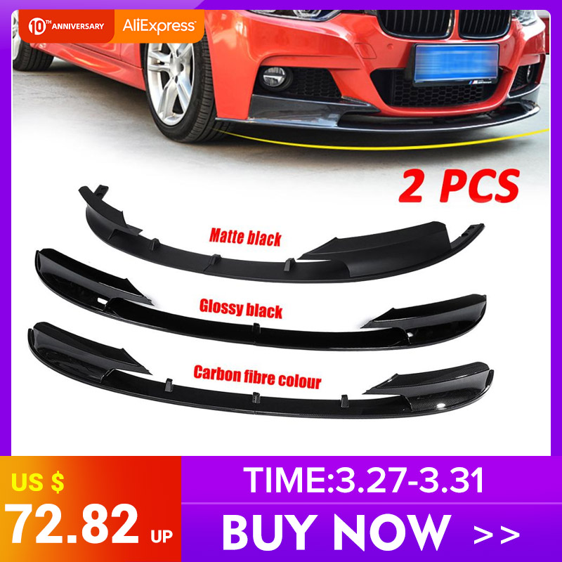 3 Color Front Bumper Cover Lip Front Bumper Surface Only for BMW F30 3 Series M Style 2012-2018 Sports Version