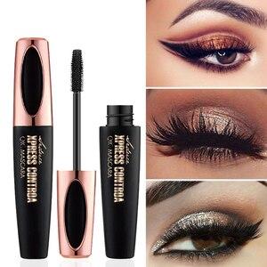 Image 1 - 4D Silk fibre tusz do rzęs wodoodporny do kosmetyków makijaż przedłużanie rzęs czarny gruby wydłużenie Curling Eye Lashes 1 sztuk