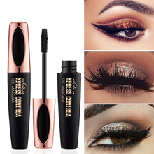 4D soie fibre cils Mascara imperméable pour cosmétiques maquillage paupières Extension noir épais allongement friser cils 1 pièces
