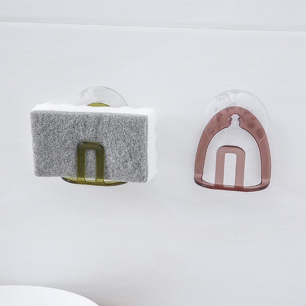 Kitchen PVC Suction Cup Sink Sponge Rack Holder Bathroom Sponge Soap Storage Holder Drain Racks Storages Shelves Tools