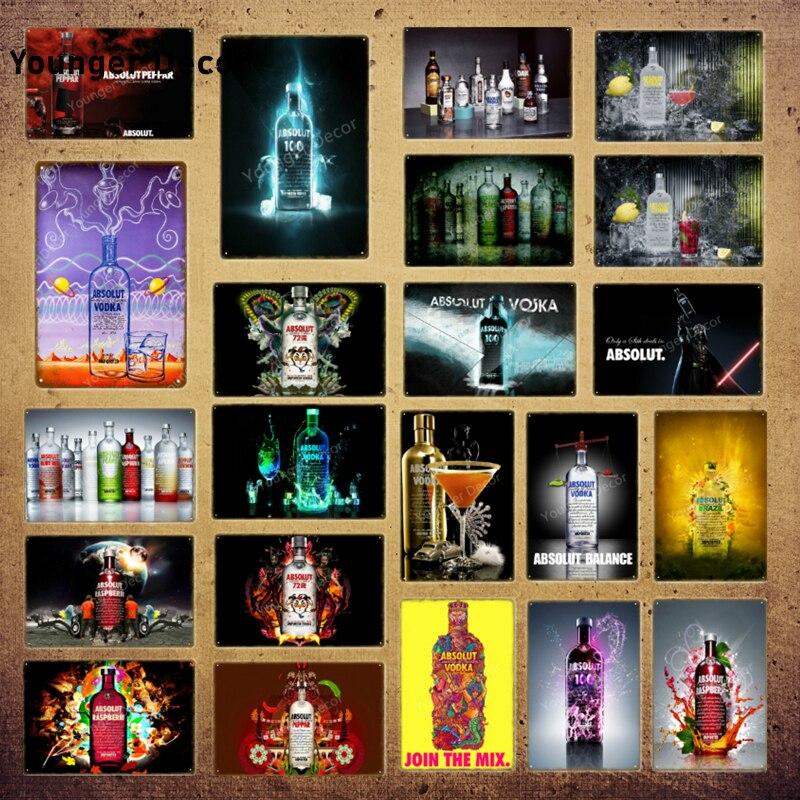 Póster de pared con estampado Vintage para decoración del hogar, carteles de Metal con estampado de cerveza, vino, Suecia, Bar, Pub, YI-175 de placa para bebidas