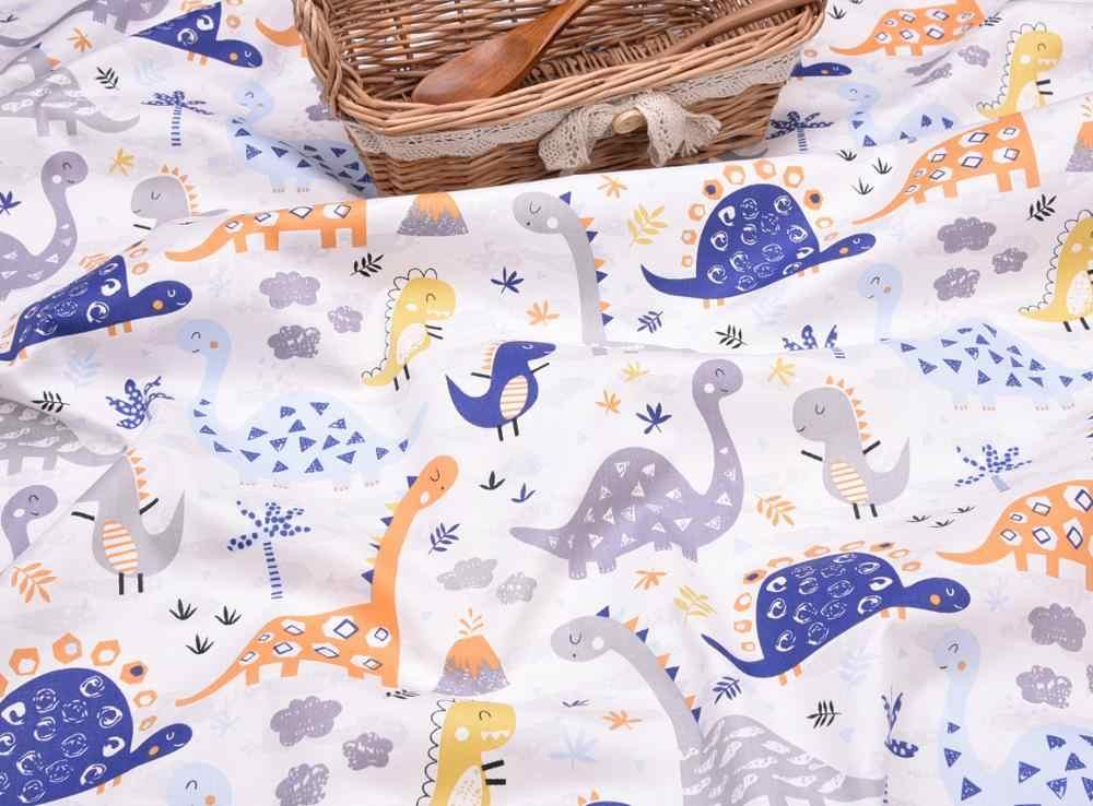 חם כותנה בד DIY תפירת קרפט טלאי Quilting רבעון שומן Tecido בגדי טילדה עבור תינוק גיליון טקסטיל דינוזאור מודפס