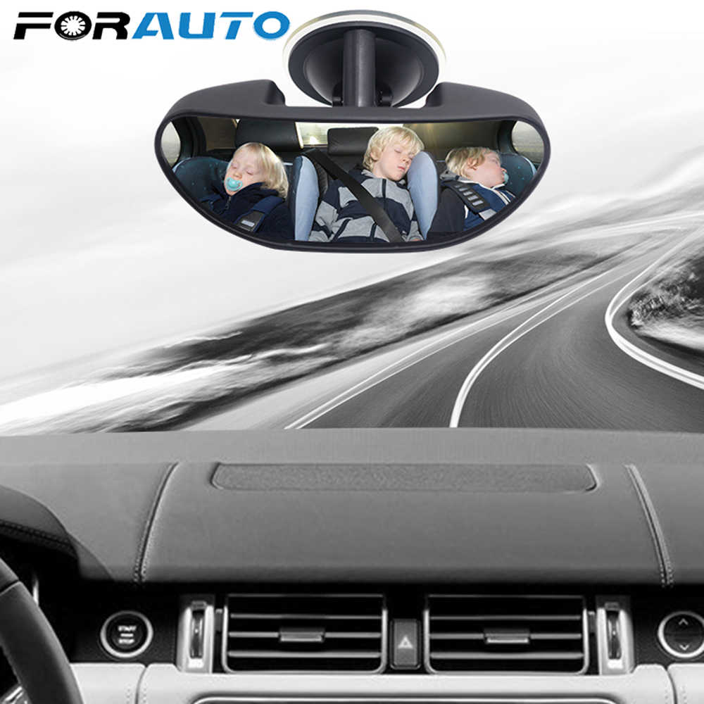 Universal Car Interior Safety Rear Seat View Mirror Adjustable Angle Suction Cup