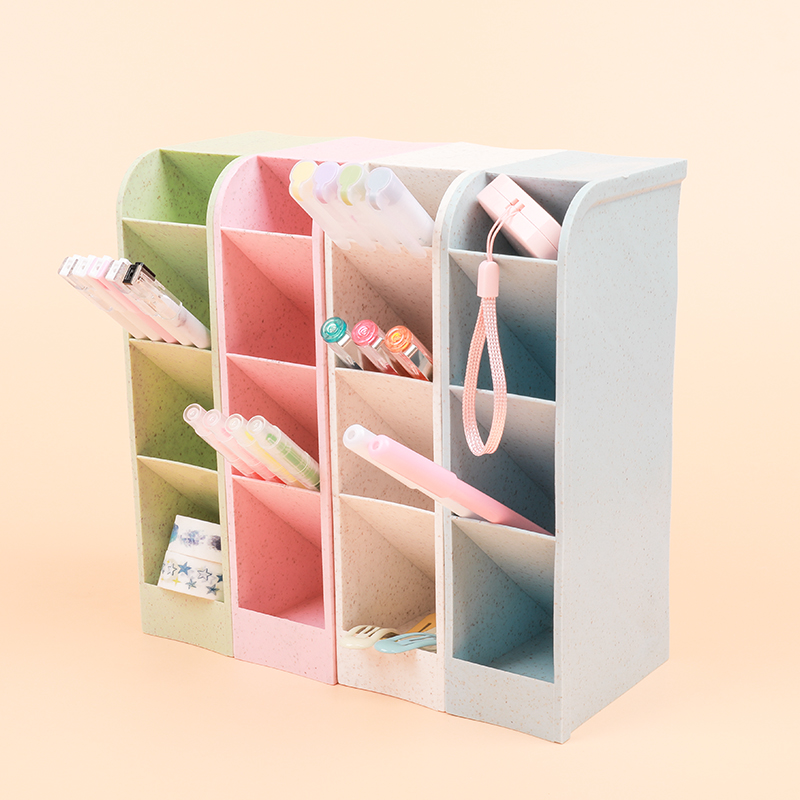 1 Pc Cute Pencil Holder Sequin Separation Plastic Holder Stationery Organizer For Shool And Office Supplies Students Girls Gifts
