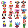 Disney Blocks Mermaid Mini Action Figures Building Blocks Mickey Minnie Bricks Kids Toys For Girls Christmas Gifts