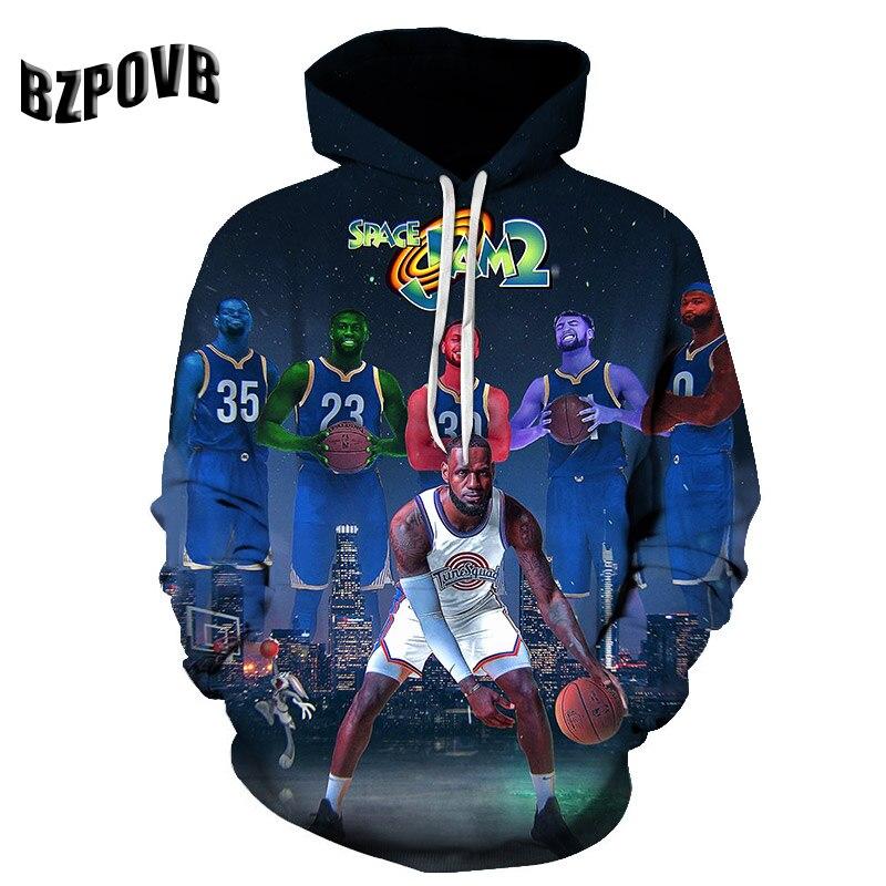 2019 Basketball Star Hoodies Men's Women's Sport Hoodie Hoody Autumn Fashion 3D Printed Sweatshirt Hip Hop Hoodie Harajuku