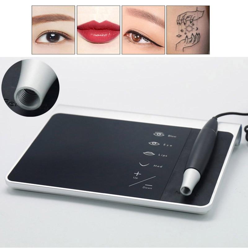 NEW Eyebrow Make Up Kits For &Lips/ Rotary Motor Tattoo Machine Kit Permanent Makeup Tattoo Machine Pen Micropigmentation Device