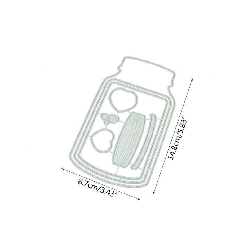 Decoratieve Fles Metalen Stansmessen Diy Scrapbooking Stempelen Sterven Decor
