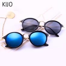KIJO Round Sunglasses coating Retro Men women Brand Designer
