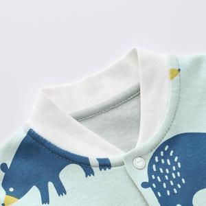 Image 4 - Pureborn Neugeborenen Unisex Baby Overall Langarm Baby Junge Mädchen Kleidung Baumwolle Cartoon Gedruckt Frühling Herbst Baby Romper Pyjamas