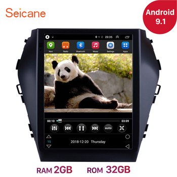 Seicane 9.7 inch Android 9.1 Car Multimedia Player For 2015 2016 2017 Hyundai Santafe IX45 GPS Navigation Radio Mirror link image