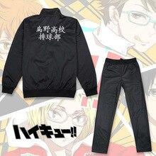 Hinata Shoyo Cosplay Costume Haikyuu!! Karasuno High School Volleyball Jacket Pants Shimizu Kiyoko Sportswear Suit