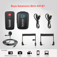 Boya Saramonic Blink 500 Blink500 B1 B2 B3 B4 Wireless Lavalier Lapel Microphone Studio Condenser Interview Mic for Phone DSLR