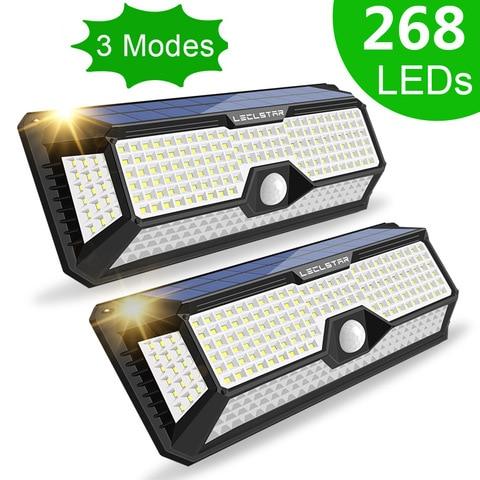 super brilhante 268 led solar sensor de movimento luz ao ar livre a prova dwaterproof