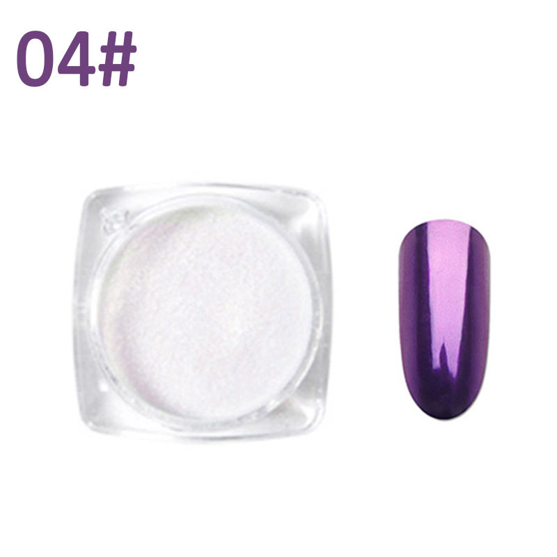 Mirror Nail Glitter Powder Chrome Pigment Shell Dazzling DIY Salon Micro Holographic Powder Laser Nail Art Decorations TSLM2