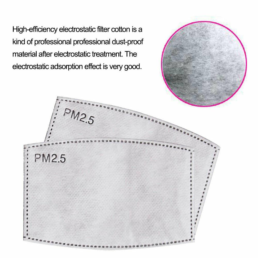 100 шт. PM2.5 фильтр для рта с активированным углем вставка защитный фильтр Медиа вставка для лица маска для рта анти-Пылезащитная маска