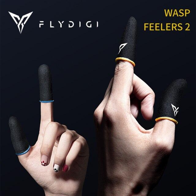 Flydigi wasp feelers 2 dedo manga suor prova dedo capa do telefone móvel tablet pubg jogo tela de toque polegar 4 peças