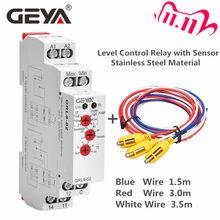 Controlador de nível líquido eletrônico, frete grátis, geya grl8, nível líquido, controlador de nível líquido 10a ac/DC24V-240V