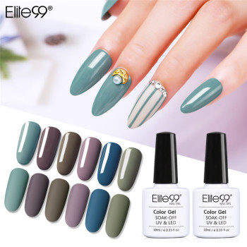 Elite99 Hybrid Lacke Gel Nagellack UV Primer Alle Für Maniküre Semi Permanent Weg Tränken 10ML Gel Lak Top basis Nagel Lack