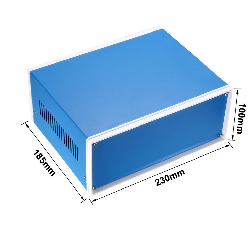 lowest price uxcell Waterproof Enclosure Box Cover Electronic Project DIY Outdoor Junction Box Housing Electronic Iron Enclosure Case Blue