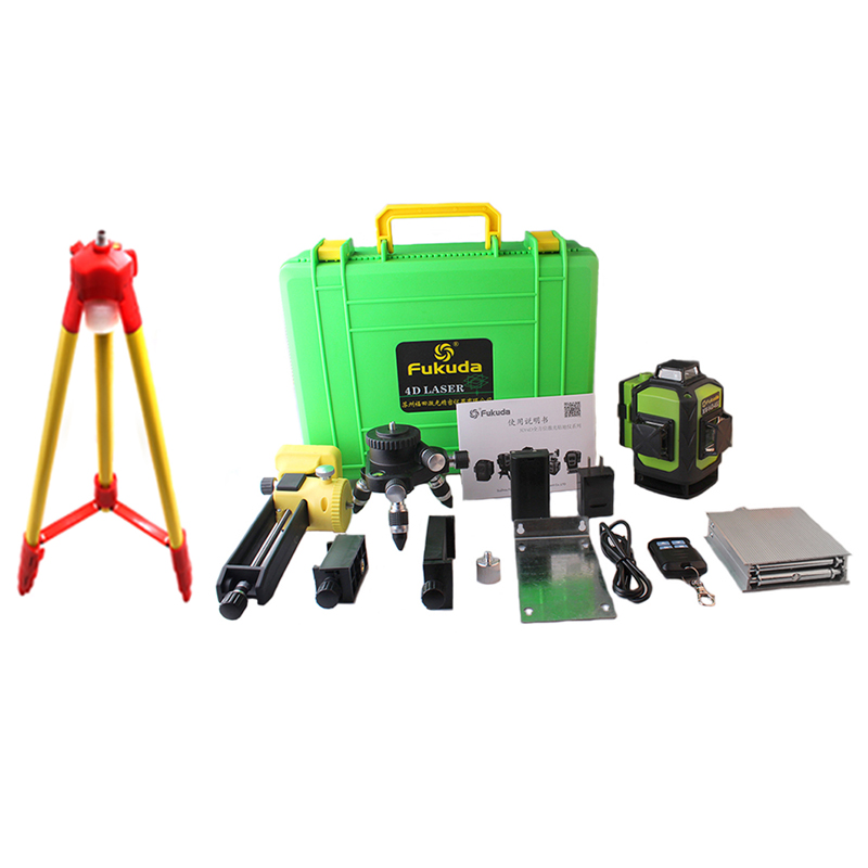 New Fukuda Professional 16 Line 4D laser level with Japan Sharp 515NM Beam 360 Vertical And Horizontal Self-leveling Cross