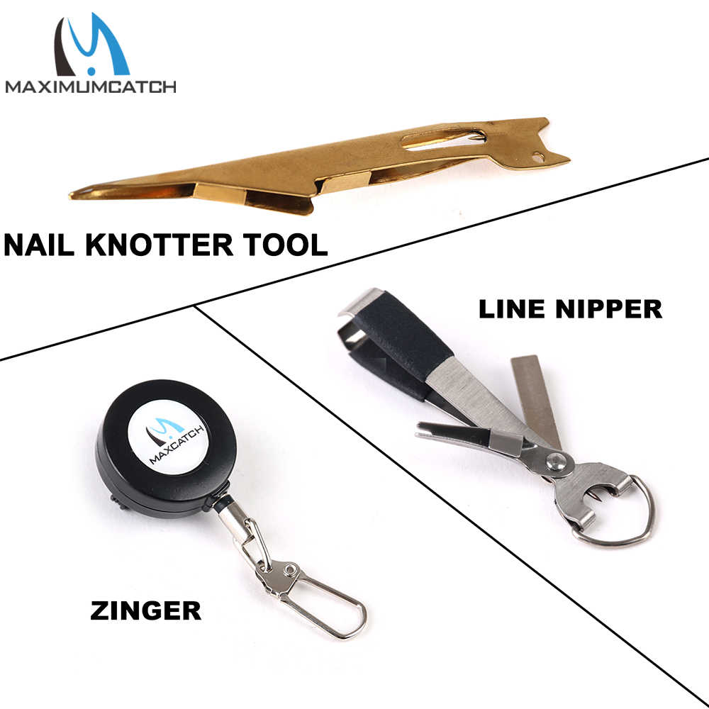 Fly Fishing Quick Nail Knot Tying Tool Loop Tyer Hook Tier with Retractor Zinger
