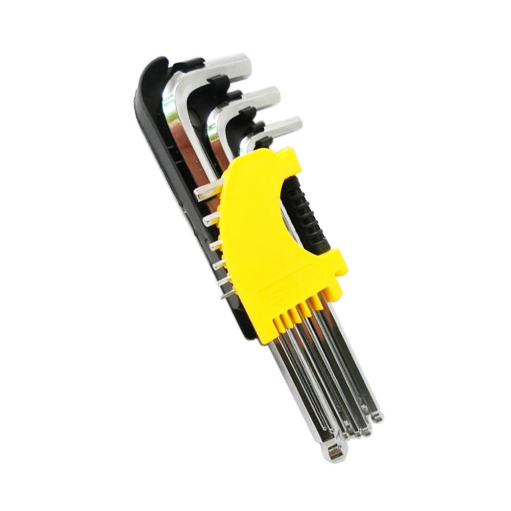 BOSI 1,5-10mm 9tk pikkune kuuskantvõtmega mutrivõtme - Käsitööriistad - Foto 3