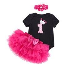 Платье для маленьких девочек 1st 2nd, праздничный наряд для дня рождения; Нарядное платье-пачка; Детский костюм для девочки детская одежда для ...