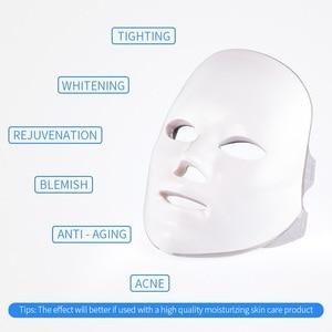 Image 5 - פנים מסכת טיפול 7 צבעים אור יופי פוטון התחדשות עור טיפול פנים טיפול יופי אנטי אקנה טיפול הלבנת ספא