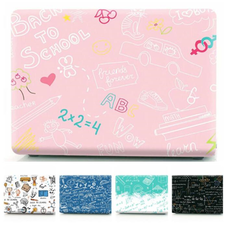 For Macbook Pro 13 Case Letter Transparent Laptop Cover For Mac Book 13.3 Inch A1278 A1708 A1706 A1989 A1502 A2159 2019 Cases