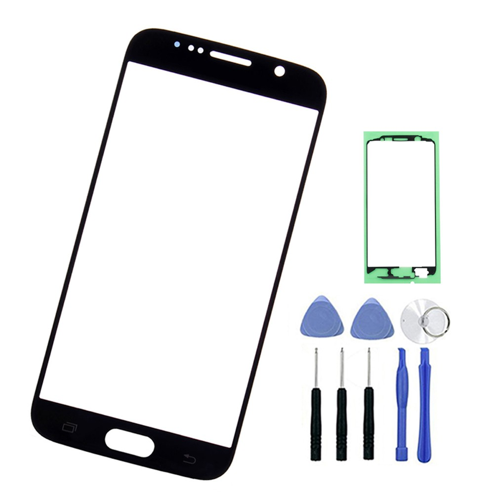 <font><b>Replacement</b></font> Screen Outer <font><b>Glass</b></font> For <font><b>Samsung</b></font> <font><b>S6</b></font> G920 G9200 LCD Touch Screen Front <font><b>Glass</b></font> Outer Panel Lens + Tools image