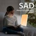Лампа для лечения депрессии 12000 люкс, сезонный светильник для лечения аффективных заболеваний, 5 В, 3200K, 5500K, бесступенчатое затемнение, фотот...