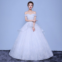 Wedding Dress 2019 New Sexy V neck Lace Up Ball Gown Off The Shoulder Simple Wedding Dresses Vestido De Noiva