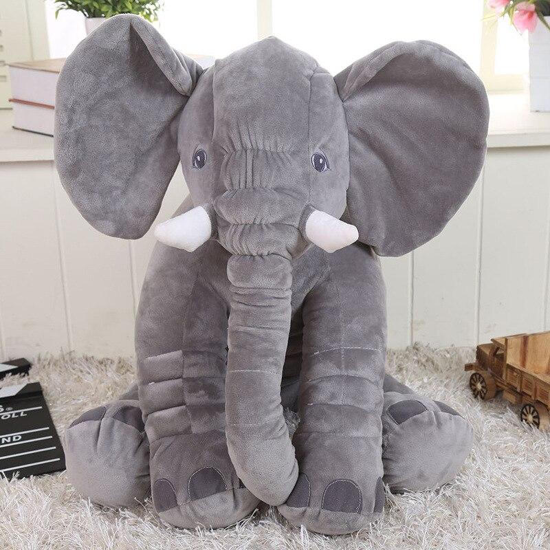 VLAMPO Infant Plush Elephant Doll Toy Kids Sleeping Back Cushion Cute Stuffed Elephant Baby 's Playmate Gifts Accompany Doll