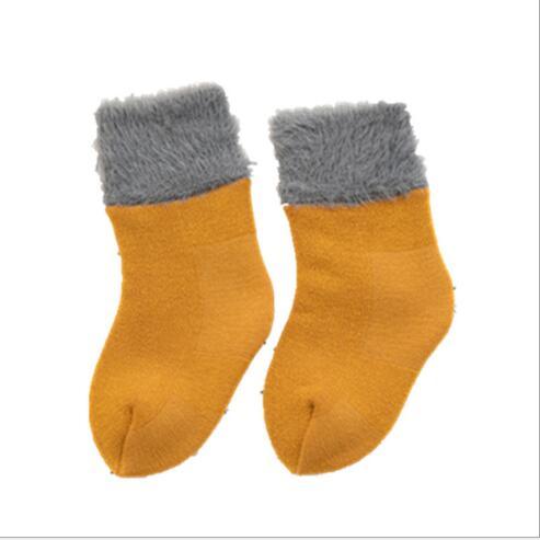 Winter new thickening baby snow socks velvet warm children's socks plus velvet comfortable baby socks footwear 2