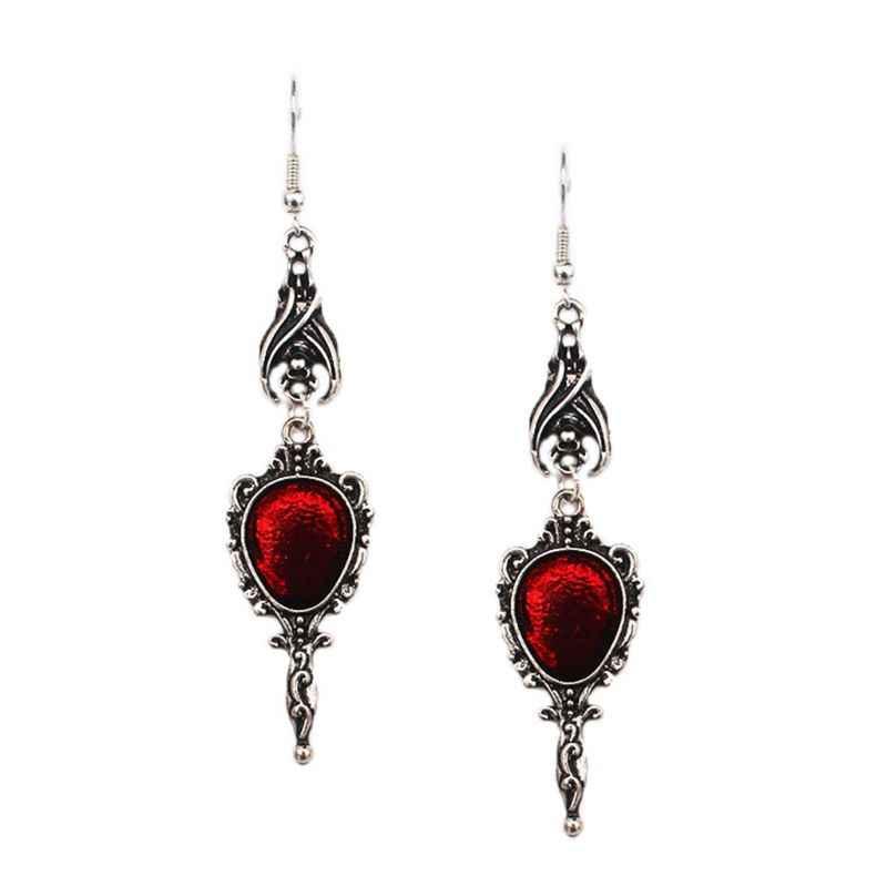 Cristal Rojo Vintage Gótico murciélago vampiro colgante Halloween Joyería G E4Z0 E5B9
