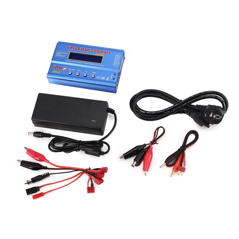 Original IMAX B6 80W 6A Lipo NiMh Li-ion Ni-Cd RC Balance Charger 10W2A Discharger With 15V/6A AC/DC Adapter For RC ModelBattery