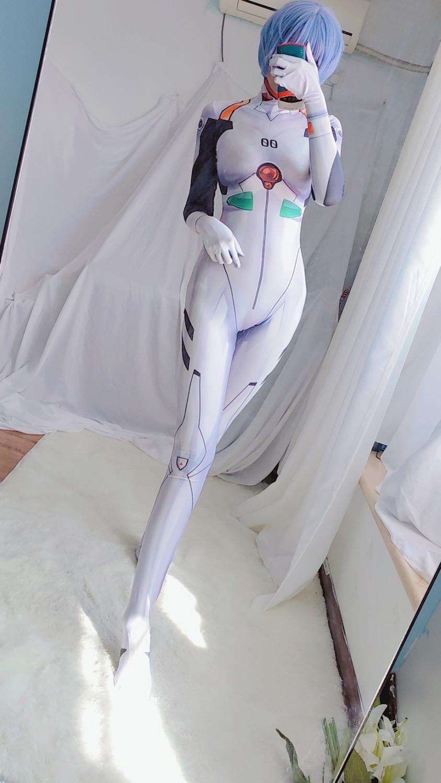 Эва (этиленвинилацетат) Рей Аянами Косплэй костюм белого цвета, боди-комбинезон, комбинезон, костюмы на Хэллоуин вечерние Косплэй, Zentai, кост...