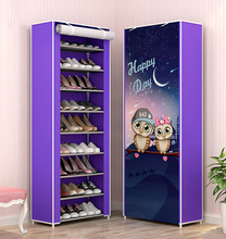 10 Layers Shoe Rack  Storage Nonwoven Fabric Shoes Cabinet Floor Dustproof Home Shoes Organizer Shlef Furniture Shoes Closet