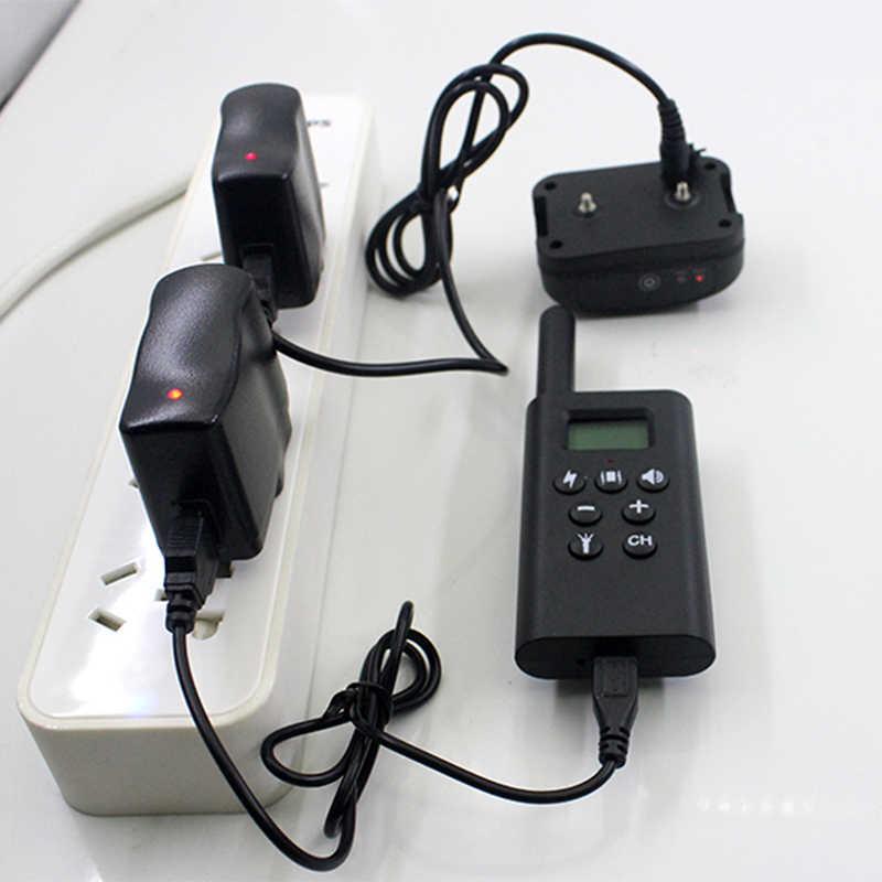 Controle remoto recarregável do animal de estimação do colar bonde do treinamento do cão de 300m com display lcd para o dispositivo antilatido do som da vibração de choque