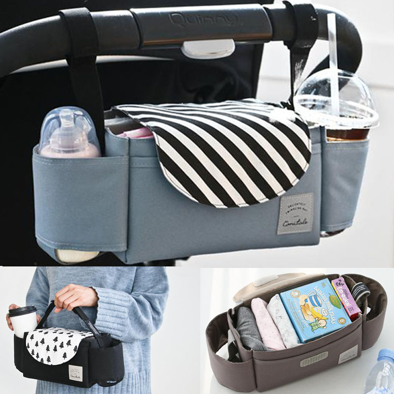 Baby Stroller Bag Travel Organizer Diaper Bags Maternity Accessories Cup Multifunction Mummy Baby Carriage Nappy Bag Backpack