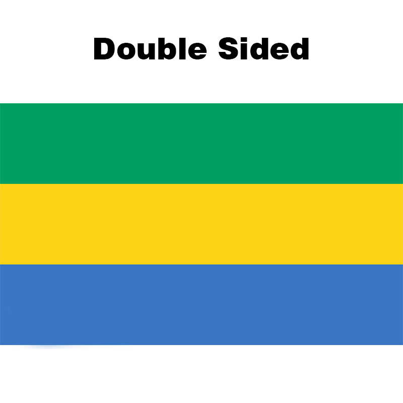 Gabon Printed Polyester Flag