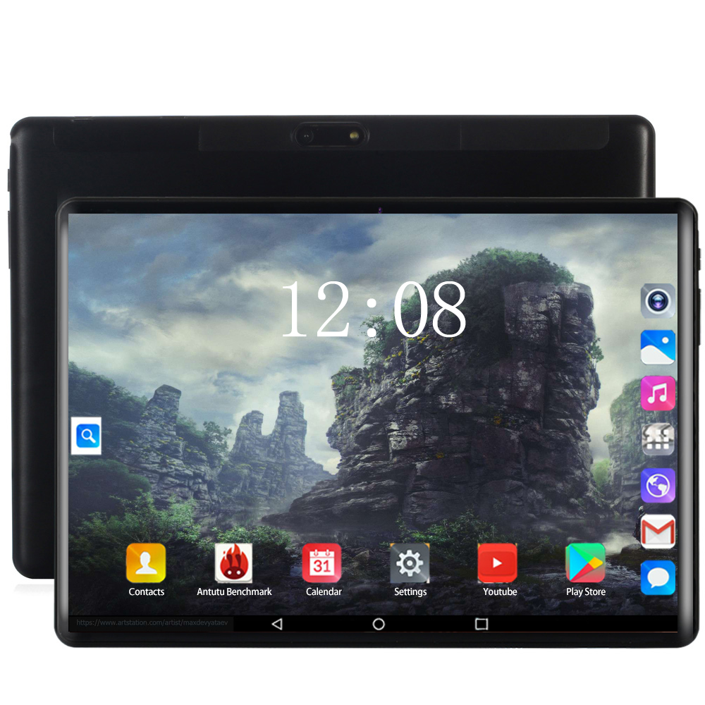 Android 8.0 Tablet PC 10 Inch RAM 6GB ROM 128GB 10 Core 1920*1200 IPS 2.5D Tempered Screen 4G Phone Call 5G WIFI Tablets 10.1