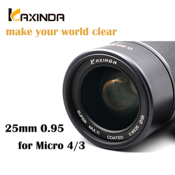 Kaxinda 25mm f/0.95 High Definition Wide Angle  Lens with Large Aperture for Micro 4/3 Mount Mirrorless Camera