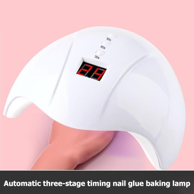 12LED UV Nail Lamp LED Nail Dryer Auto Sensor Nail Art UV Lamps 30/60/90s Timing Nail Polish Dryer Manicure Tools