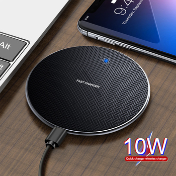Udyr 10W Qi Wireless Charger For Samsung Galaxy S10 S9/S9+ S8 Note 9 USB Fast Charging Pad for iPhone 11 Pro XS Max XR X 8 Plus 1