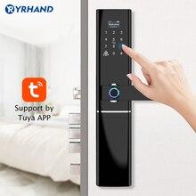 Serrure de porte wi fi à empreintes digitales, serrure de porte étanche, électronique, biométrique et intelligente, avec application Tuya