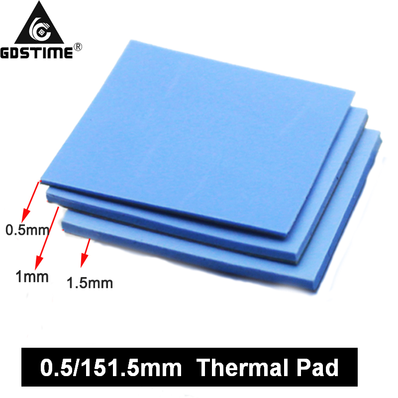 3 Pcs 100mm*100mm 0.5mm 1mm 1.5mm Combination Thermal Pads Heatsink Cooling Conductive Silicone Pad For Laptop IC GPU VGA Card